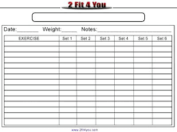 Weight Training Record Sheet Workout Spreadsheet Excel Training Log Template Calories And