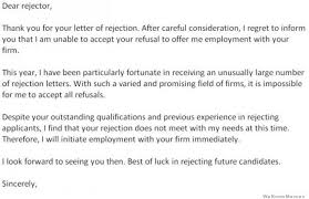 Dear Rejector Hilarious Rejection Response Letter Weknowmemes