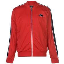 Kappa Mens Tri Colour Jacket Tracksuit Top Coat Long Sleeve