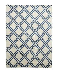 navy lattice rug