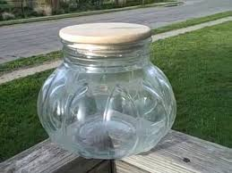 biscoff cookie jar clear glass large used vintage collectible collectable