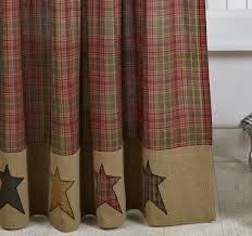 shower curtain cabin themed curtains