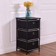 home office sofa. Costway Night Stand End Side Sofa Table Bin Home Office Furni W/ 3 Storage Baskets