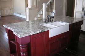 delicatus island farm sink granite countertop