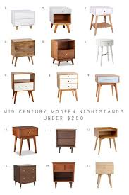 mid century modern bedside table. Mid Century Modern Nightstands Under $200 Bedside Table