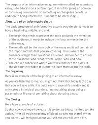 Essay Outline Example That You Can Use Informative Essay Examples That Help With Your Essay