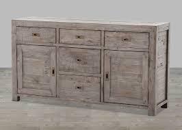 reclaimed wood black olive  drawer sideboard
