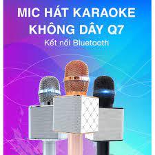 Micro Hát Karaoke Blutooth Q7 dòng 2021 Micro Karaoke Kèm Loa Bluetooth Q7  2020 - Hát Hay Giá Rẻ Cao Cấp giá cạnh tranh
