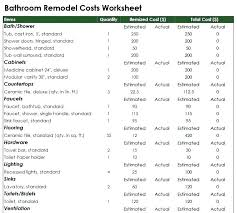 Home Remodel Costs How Much Does A Bathroom Cost Seattle