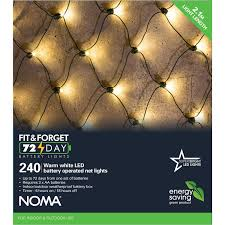 Battery Operated Net Lights With Timer Noma Net Light Fit Forget Battery Operated 240 Warm