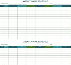 Schedule Document Template Biweekly Work Schedule Template Schedule Templates Weekly