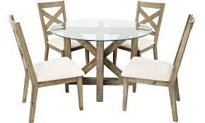 hampton cottage solid acacia  glass dining set  haynes furniture