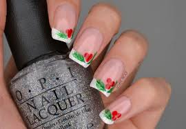 NAILS | Christmas Holly French Manicure | Cosmetic Proof ...