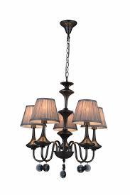 pendant light chandelier black grey retro 5 lamp shades e14 504mm high