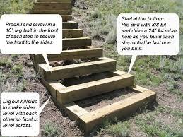 build steps into the hill landscape