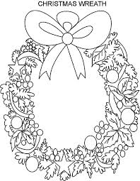 Beautiful Christmas Wreaths Coloring Pages Coloring Sun