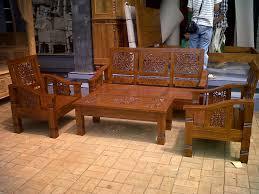 Teak Living Room Furniture Carved Teak Minimalist Wooden Living Room Chairs Home Design