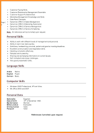 Language Skill Levels Resume Curriculum Vitae Language Skills