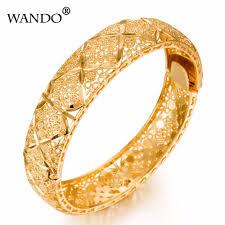 Arabic Gold Jewellery Designs Wando Luxury Ethiopian Bangles Women 24k Gold Color Dubai Arabic Bangles Bracelet African Arab Kenya Middle East Wedding Wb25 Designer Bangles Gold