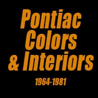 1965 Pontiac Color Chart Factory Literature Pontiac Colors Interiors 1964 1981