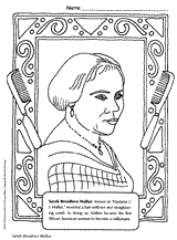 Small Picture Black History Month or Womens History Month coloring book page