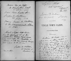 susan b anthony collection selected special collections rare  in her inscription in this copy of uncle tom s cabin susan b anthony explains the book was originally given to well known anti slavery and women s rights