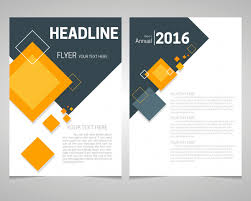 Annual report flyer template with lozenge arrangement design Free ...