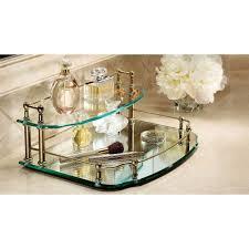 mirrored vanity tray small