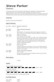 Network Analyst Iii Resume samples