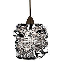 wac lighting candy 1 light led quick connect pendant in dark bronze mini pendants pendant lights ceiling lights