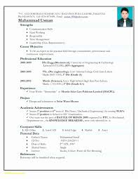 Civil Engineer Resume Format Free Download Fresh Resume Formats Pdf