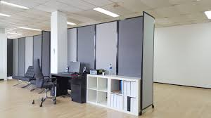 office devider. Portable Partition In An Office Devider