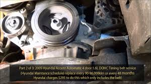 2009 hyundai accent 1 6l gls dohc timing belt service part 2 of 3 2009 hyundai accent 1 6l gls dohc timing belt service part 2 of 3 720phd