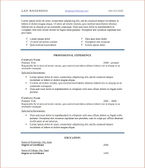 Resume Good Resume Headers