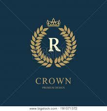 Crown Template Magnificent Wreath Monogram Vector Photo Free Trial Bigstock