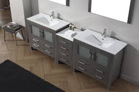grey double vanity. Fine Double Virtu USA Dior 90 Double Bathroom Vanity Set In Zebra Grey On