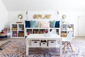 office and playroom. this office/ playroom combo from style your senses is so pretty. it looks mature and totally fun sweet at the same time. office f
