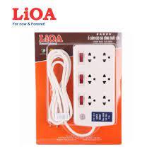CHÍNH HÃNG LIOA] Ổ cắm điện LIOA 4 lỗ, 6 lỗ, 10 lỗ có công tắc, dây dài  3m/5m 1000W giá cạnh tranh