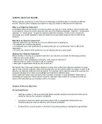 What Is Objectives On A Resume Objective On A Resume General Resume