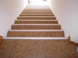 cork mosaic floor tiles modern staircase