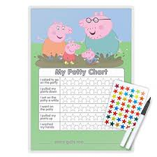 Free Potty Training Reward Chart And Stickers Peppa Pig Potty Toilet Training Reward Chart Pen Free