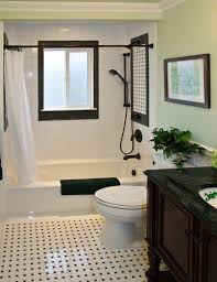 bathroom crown molding. Black-and-white-bathroom-with-crown-molding-also- Bathroom Crown Molding
