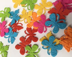 Felt Butterfly Shapes With Embossed Detail 8g