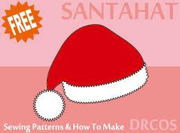 Santa Hat Pattern Gorgeous Santahat Sewing Patterns DRCOS Patterns How To Make