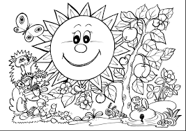 Cooloring Book Awesome Spring Coloring Pages For Kids Easy