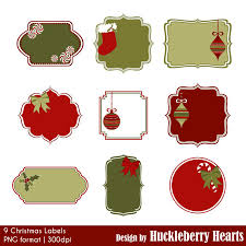 Christmas Labels Clipart