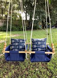 twins baby swing navy canvas swing gallery photo gallery photo