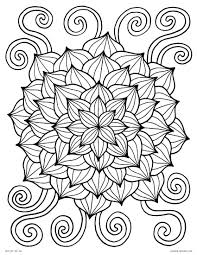 coloring pages for kids flowers. Modren Pages Awesome Printable Abstract Flower Coloring Pages Download 14f   Flowers Lotus Inside For Kids R
