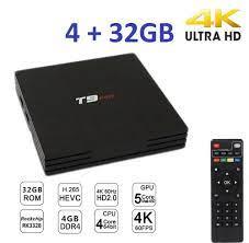 Pdr Smart TV Box T9 Pro Android 7.1.2 4GB RAM 32GB 4K Iptv Gpu 5 Core Quad  Wifi