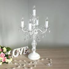 candelabra table lamp shabby chic furniture a white chandelier style black